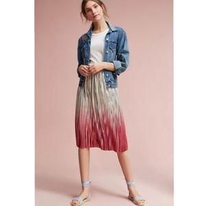 Anthro Seen Worn Kept Ombre Pleated Skirt